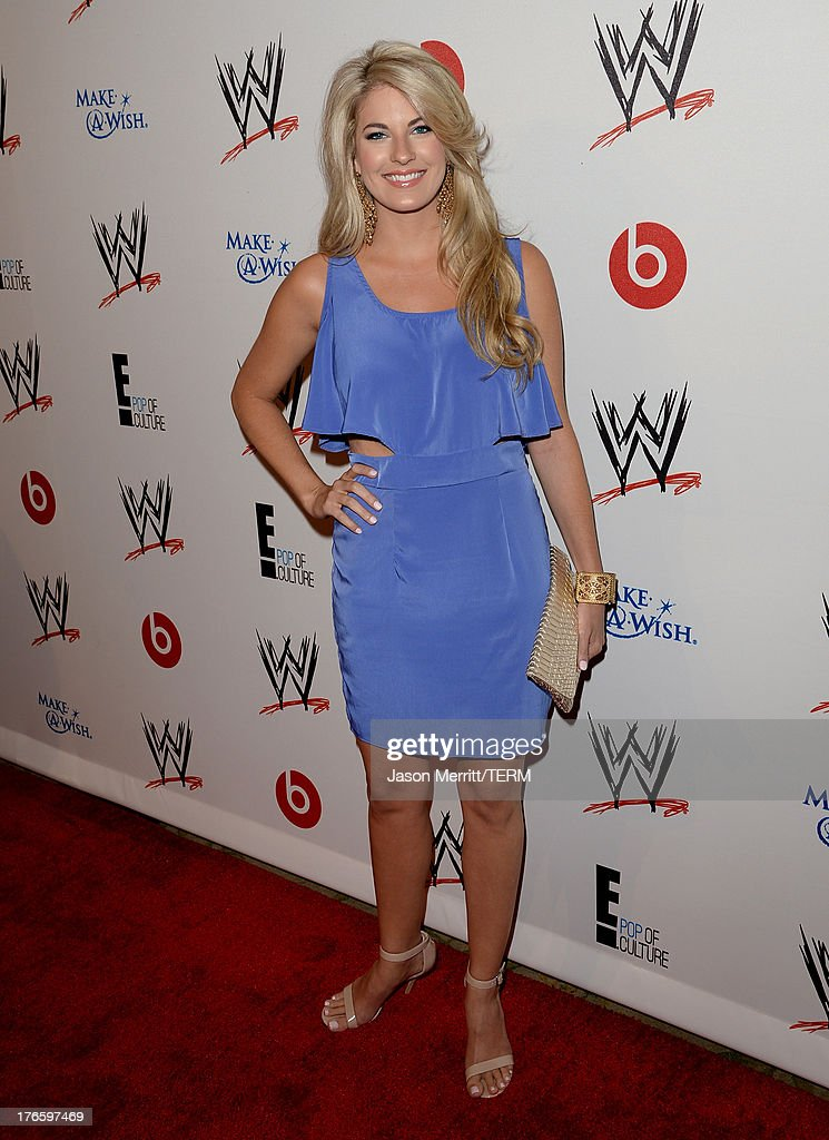 Actress Stephanie Leigh Schlund attends WWE & E! Entertainment's 'SuperStars For Hope' at the Beverly Hills Hotel on August 15, 2013 in Beverly Hills, California.