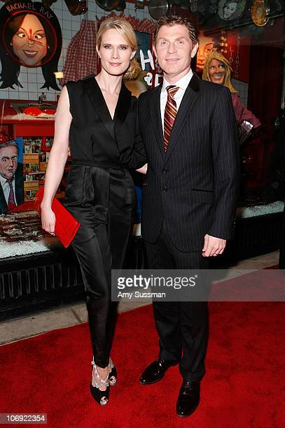 Actress Stephanie March and chef Bobby Flay attend the holiday window unveiling at Barneys New York on November 16 2010 in New York City