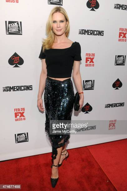 Actress Stephanie March attends 'The Americans' season 2 premiere at the Paris Theater on February 24 2014 in New York City