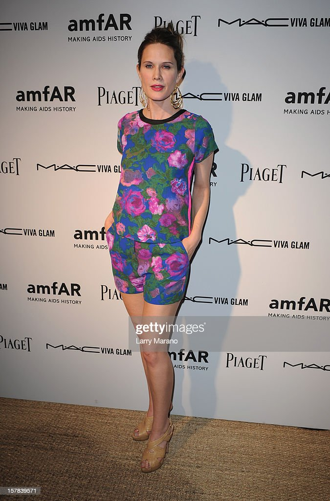 Actress Stephanie March attends the amfAR Inspiration Miami Beach Party at Soho Beach House on December 6, 2012 in Miami Beach, Florida.