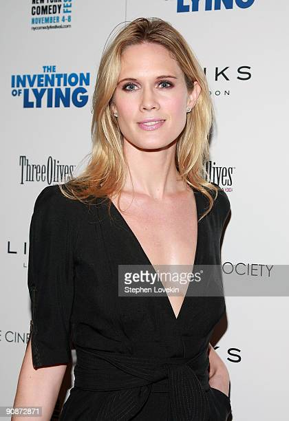 Actress Stephanie March attends the Cinema Society Links Of London screening of 'The Invention of Lying' at Tribeca Grand Screening Room on September...