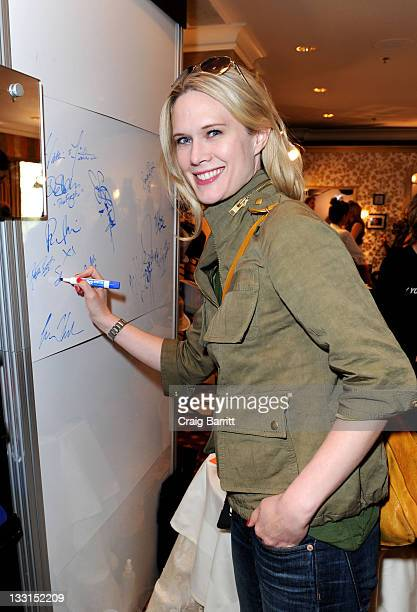 Actress Stephanie March attends the EXTRA Luxury Lounge In Honor Of 83rd Annual Academy Awards day 2 held at the Four Seasons Hotel Los Angeles at...