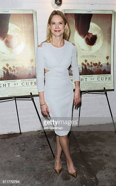 Actress Stephanie March attends the 'Knight Of Cups' New York screening at Metrograph on February 22 2016 in New York City
