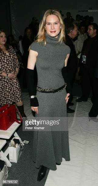 Actress Stephanie March attends the Pamella Roland Fall 2006 fashion show at Bryant Park during Olympus Fashion Week on February 9 2006 in New York...