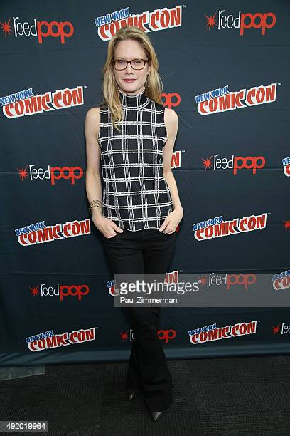 Actress Stephanie March attends the Robot Chicken / Neon Joe and Werewolf Hunter Adult Swim Press Hour at New York Comic Con 2015 at the Jacob Javitz...