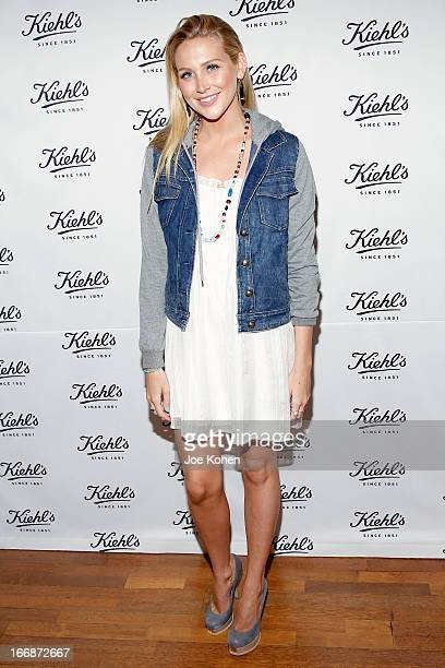 Actress Stephanie Pratt attends Kiehl's launches environmental partnership benefiting recycle across America at Kiehl's Since 1851 Santa Monica Store...
