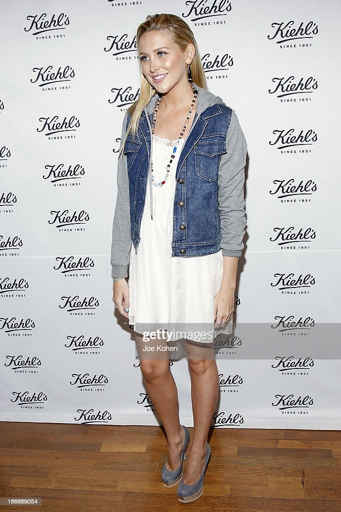 Actress Stephanie Pratt attends Kiehl's launches environmental partnership benefiting recycle across America at Kiehl's Since 1851 Santa Monica Store on April 17, 2013 in Santa Monica, California.