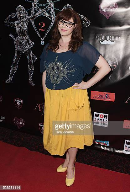 Actress Stephanie Pressman attends the 2nd Annual Artemis Film FestivalRed Carpet Opening Night/Awards Presentation at Ahrya Fine Arts Movie Theater...
