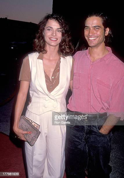 Actress Stephanie Romanov and actor Johnathon Schaech attend 'The Road to Wellville' Westwood Premiere on October 9 1994 at the Avco Center Cinemas...