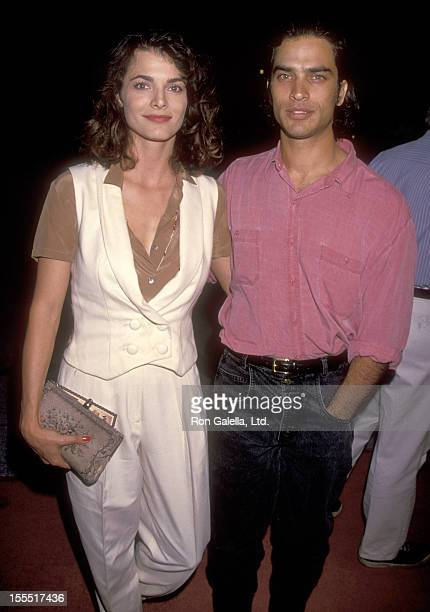 Actress Stephanie Romanov and actor Johnathon Schaech attend the Welcome to Wellville Westwood Premiere on October 9 1994 at Avco Center Cinemas in...