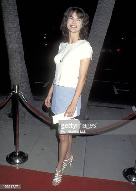 Actress Stephanie Romanov attends the Don Juan DeMarco Beverly Hills Premiere on April 3 1995 at Academy of Motion Picture Arts and Sciences in...