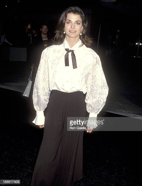 Actress Stephanie Romanov attends the Fashion Show and Party to Introduce FOX's New Show Models Inc on June 24 1994 at Renaissance Club in Santa...