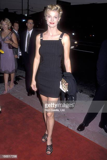 Actress Stephanie Romanov attends the Rounders Hollywood Premiere on August 25 1998 at Loews Cineplex Showcase La Brea in Hollywood California