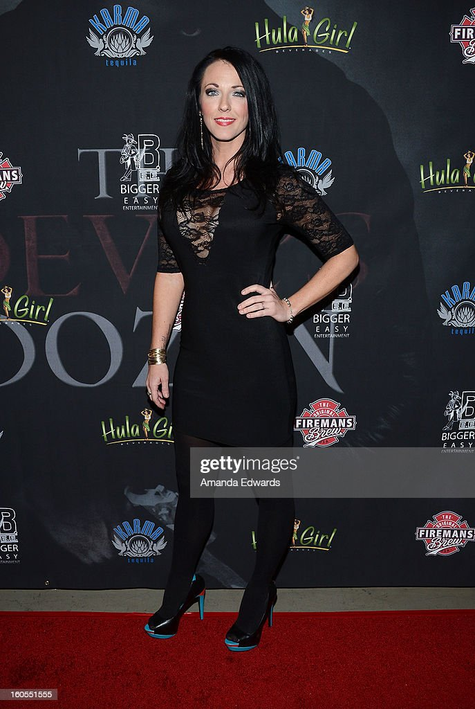 Actress Stephanie Ronalds arrives at the Los Angeles Premiere of 'The Devil's Dozen' at Mann's Chinese 6 Theatres on February 1, 2013 in Hollywood, California.