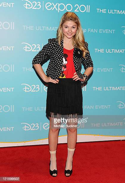 Actress Stephanie Scott attends Day 2 of Disney's D23 Expo 2011 at the Anaheim Convention Center on August 20 2011 in Anaheim California