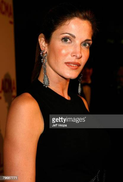 Actress Stephanie Seymour arrives at LACMA's Opening Celebration of the Broad Contemporary Art Museum on February 9 2008 in Los Angeles California