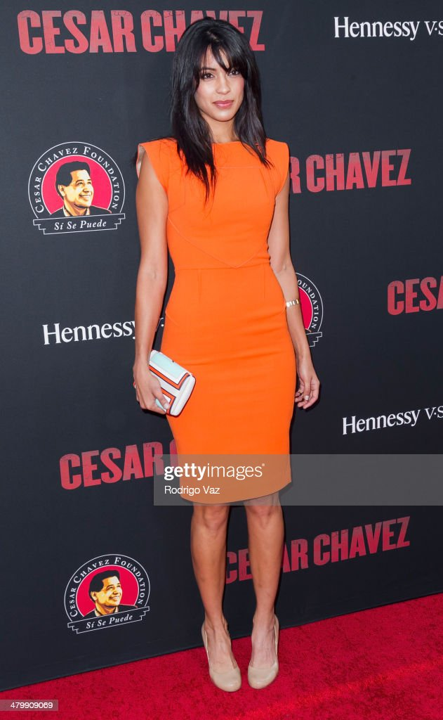 Actress Stephanie Sigman attends the 'Cesar Chavez' Los Angeles Premiere at TCL Chinese Theatre on March 20, 2014 in Hollywood, California.