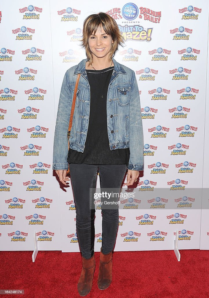 Actress Stephanie Szostak attends the Ringling Bros. and Barnum & Bailey 'Build To Amaze!' Opening Night at Barclays Center on March 21, 2013 in the Brooklyn borough of New York City.