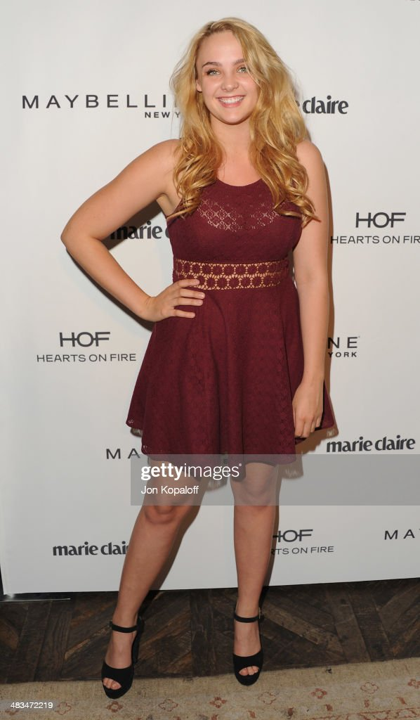 Actress Stevie Lynn Jones arrives at Marie Claire's Fresh Faces Party at Soho House on April 8, 2014 in West Hollywood, California.