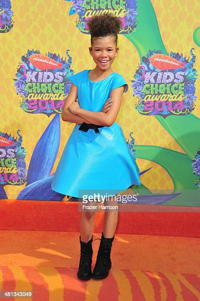 Actress Storm Reid attends Nickelodeon's 27th Annual Kids' Choice Awards held at USC Galen Center on March 29 2014 in Los Angeles California