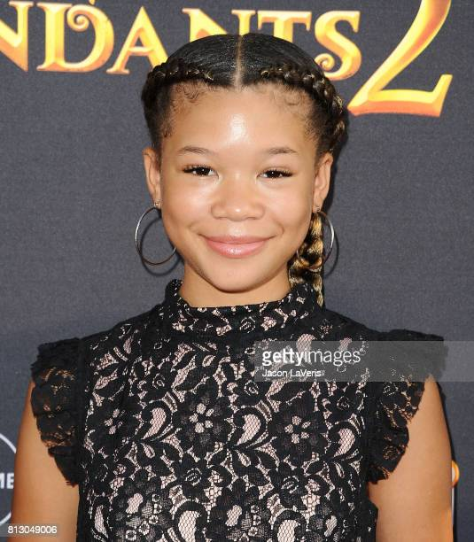 Actress Storm Reid attends the premiere of 'Descendants 2' at The Cinerama Dome on July 11 2017 in Los Angeles California