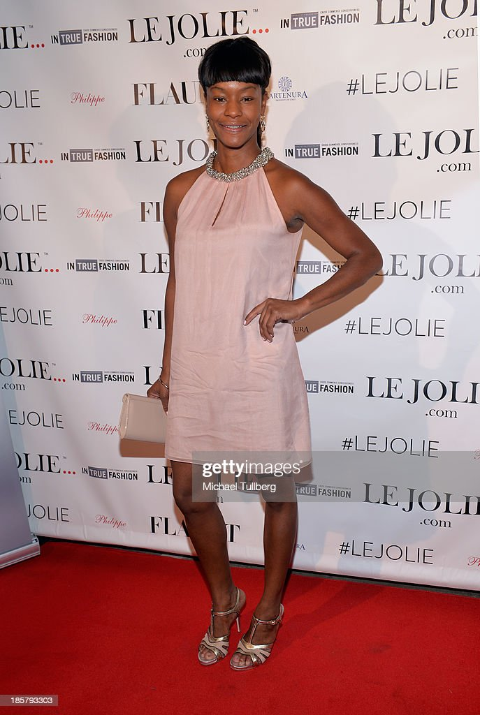 Actress Sufe Bradshaw attends the LeJolie.com launch party at No Vacancy on October 24, 2013 in Los Angeles, California.