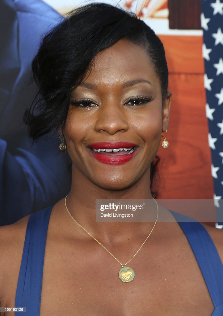 Actress Sufe Bradshaw attends the premiere of HBO's 'VEEP' Season 2 at Paramount Studios on April 9, 2013 in Hollywood, California.