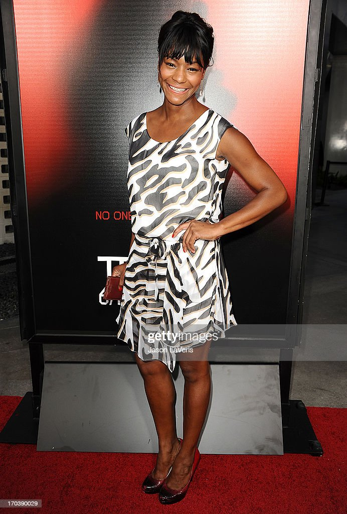 Actress Sufe Bradshaw attends the season 6 premiere of HBO's 'True Blood' at ArcLight Cinemas Cinerama Dome on June 11, 2013 in Hollywood, California.