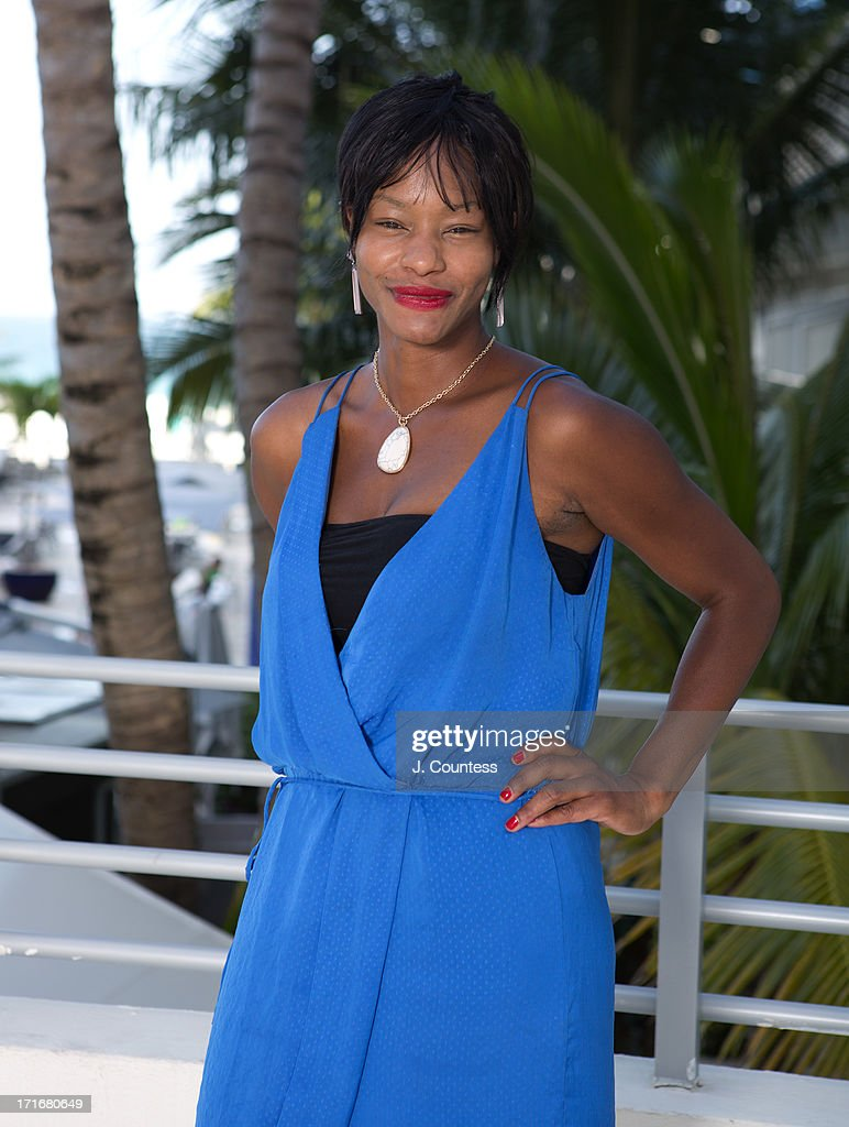 Actress <a gi-track='captionPersonalityLinkClicked' href=/galleries/search?phrase=Sufe+Bradshaw&family=editorial&specificpeople=5855646 ng-click='$event.stopPropagation()'>Sufe Bradshaw</a> poses during the 2013 American Black Film Festival on June 21, 2013 in Miami, Florida.