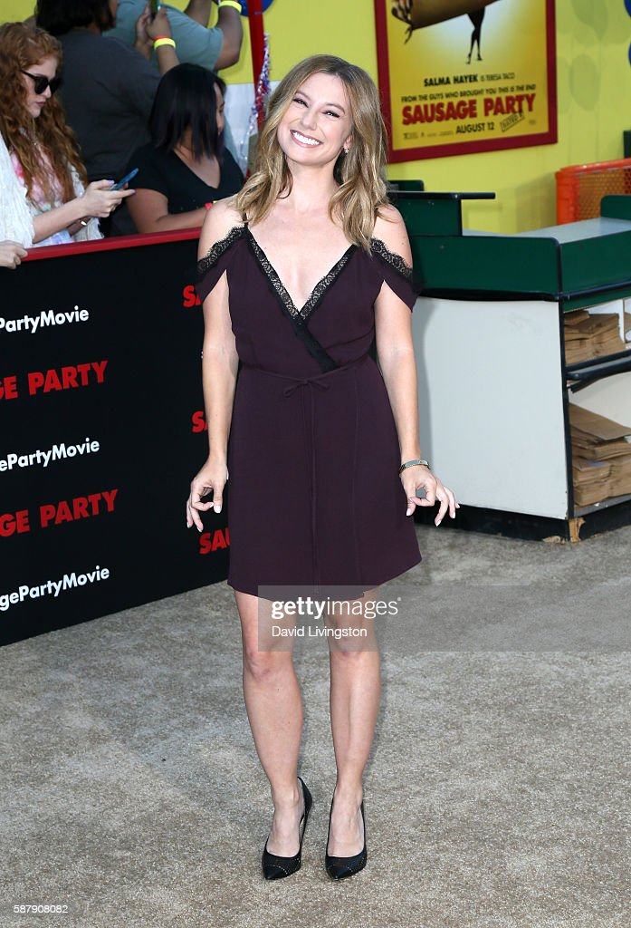 Actress Sugar Lyn Beard attends the premiere of Sony's 'Sausage Party' at Regency Village Theatre on August 9 2016 in Westwood California