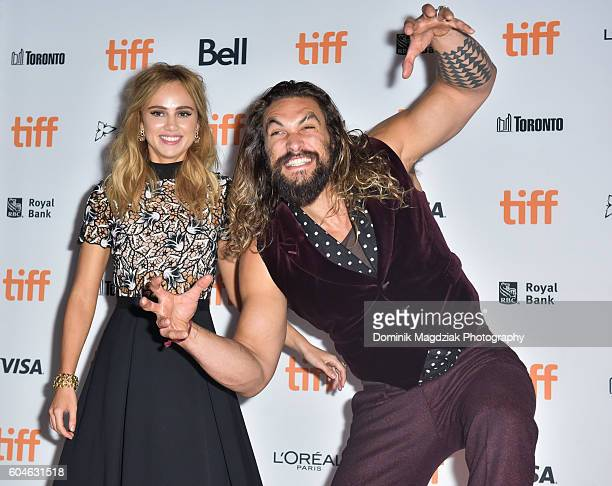 Actress Suki Waterhouse and actor Jason Momoa attend 'The Bad Batch' premiere during the 2016 Toronto International Film Festival at the Ryerson...