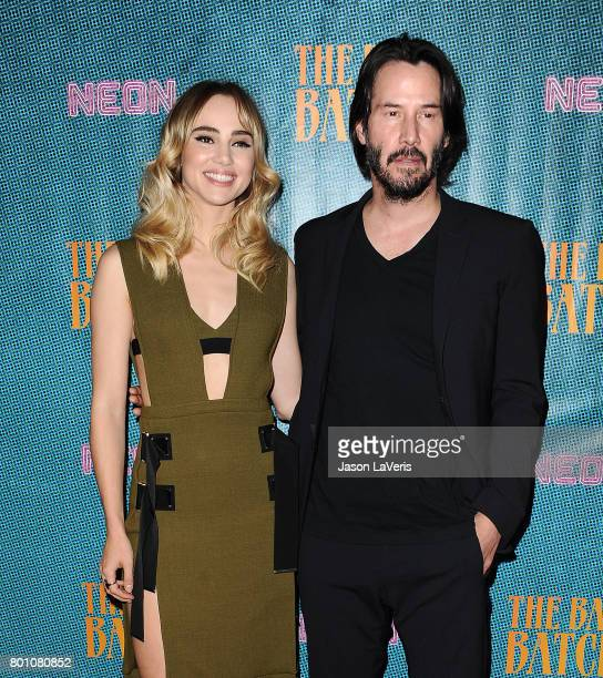 Actress Suki Waterhouse and actor Keanu Reeves attend the premiere of 'The Bad Batch' at Resident on June 19 2017 in Los Angeles California