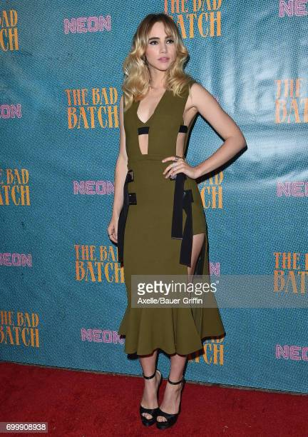 Actress Suki Waterhouse arrives at the premiere of Neon's 'The Bad Batch' at Resident on June 19 2017 in Los Angeles California