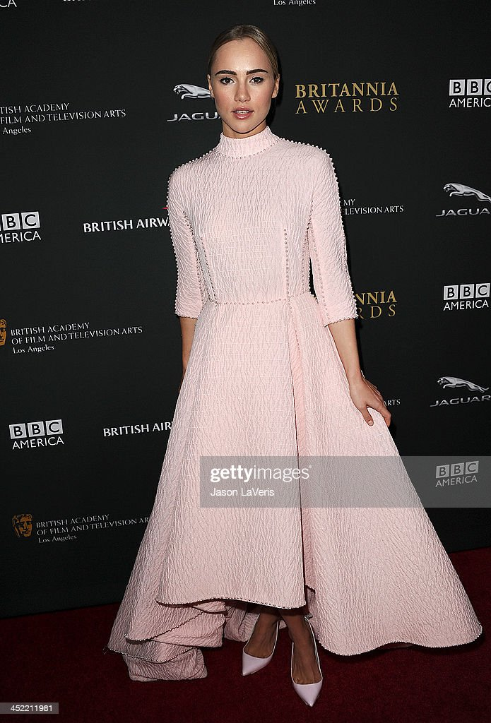Actress <a gi-track='captionPersonalityLinkClicked' href=/galleries/search?phrase=Suki+Waterhouse&family=editorial&specificpeople=7591336 ng-click='$event.stopPropagation()'>Suki Waterhouse</a> attends the BAFTA Los Angeles Britannia Awards at The Beverly Hilton Hotel on November 9, 2013 in Beverly Hills, California.