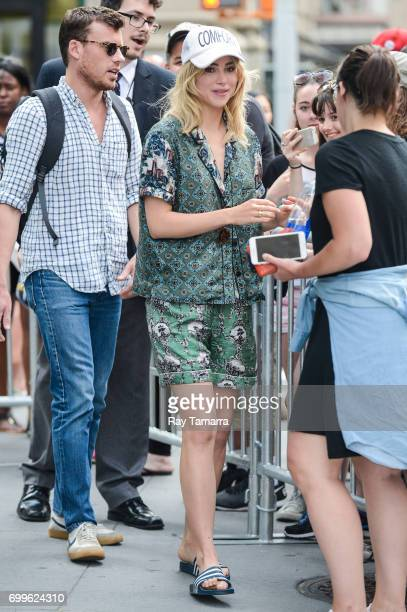 Actress Suki Waterhouse leaves the 'AOL Build' taping at the AOL Studios on June 21 2017 in New York City