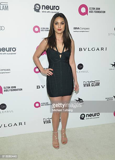Actress Summer Bishil attends the 24th Annual Elton John AIDS Foundation's Oscar Viewing Party on February 28 2016 in West Hollywood California