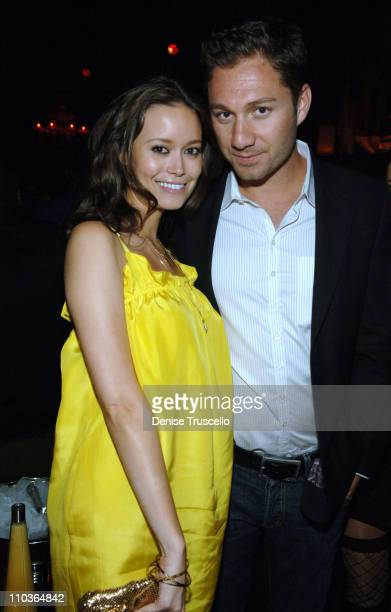 Actress Summer Glau and Jason Strauss attend TAO Nightclub in The Venetian Hotel and Casino Resort on March 07 2008 in Las Vegas Nevada
