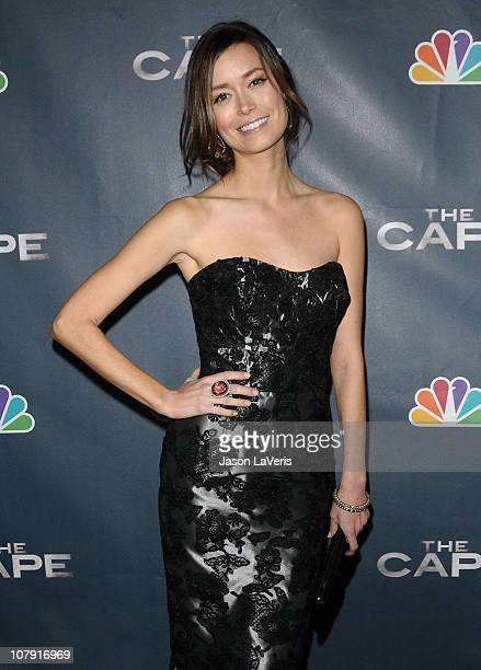 Actress Summer Glau attends the premiere party for NBC's 'The Cape' at The Henry Fonda Theater on January 4 2011 in Hollywood California
