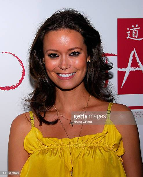 Actress Summer Glau poses outside the Tao Nightclub at the Venetian Resort Hotel Casino March 7 2008 in Las Vegas Nevada