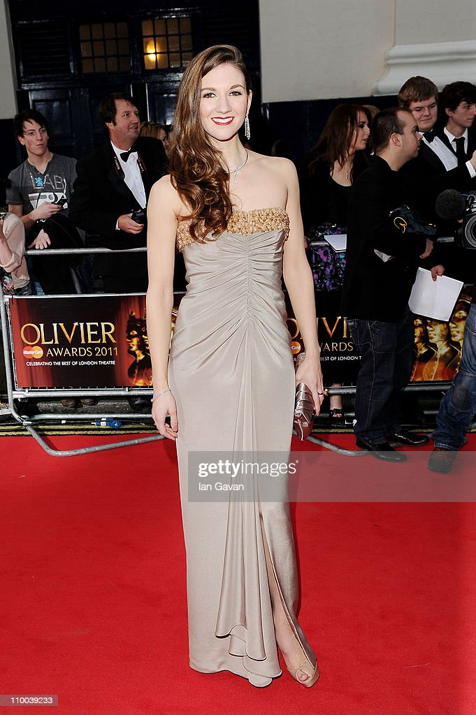 Actress <a gi-track='captionPersonalityLinkClicked' href=/galleries/search?phrase=Summer+Strallen&family=editorial&specificpeople=2363519 ng-click='$event.stopPropagation()'>Summer Strallen</a> attends The Olivier Awards 2011 at Theatre Royal on March 13, 2011 in London, England.