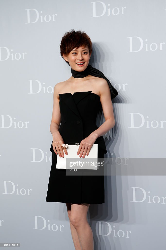 Actress Sun Li attends Christian Dior S/S 2013 Haute Couture Collection at Five on the Bund on March 30, 2013 in Shanghai, China.
