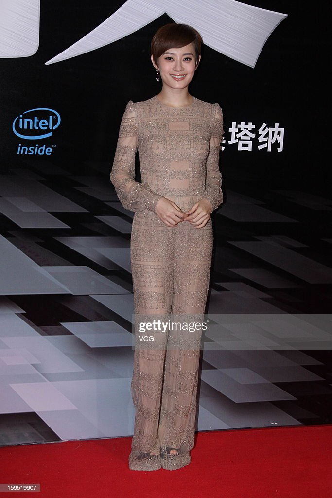 Actress Sun Li attends the 2012 Sina Weibo Awards Ceremony at China World Trade Center Tower 3 on January 14, 2013 in Beijing, China.