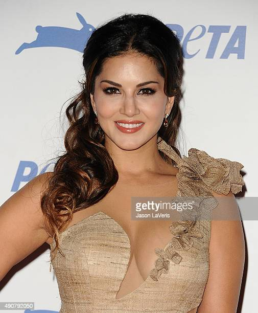 Actress Sunny Leone attends PETA's 35th anniversary party at Hollywood Palladium on September 30 2015 in Los Angeles California