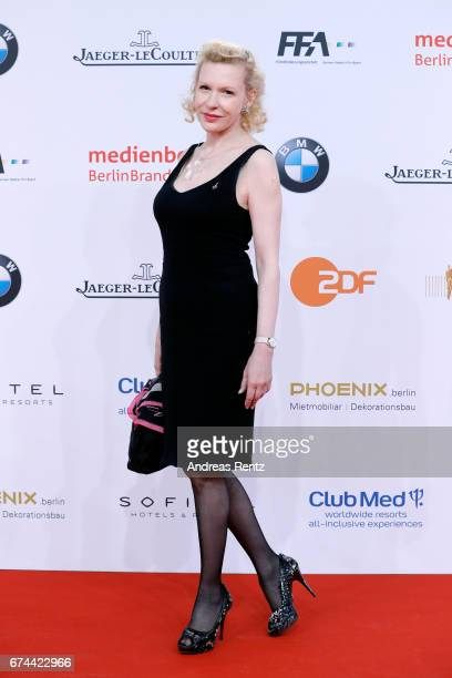 Actress Sunnyi Melles attends the Lola German Film Award red carpet at Messe Berlin on April 28 2017 in Berlin Germany