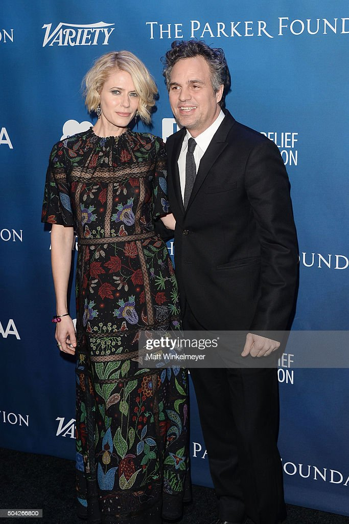 Actress Sunrise Coigney(L) and actor Mark Ruffalo(R) arrive at the 5th Annual Sean Penn & Friends HELP HAITI HOME Gala benefiting J/P Haitian Relief Organization at Montage Hotel on January 9, 2016 in Beverly Hills, California.
