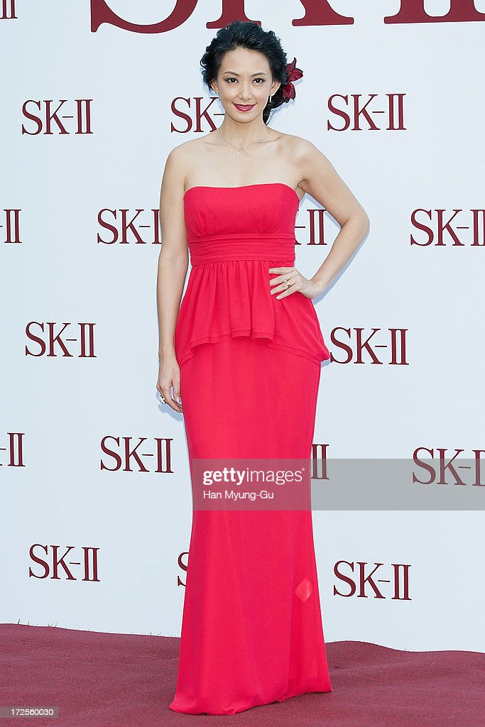 Actress Susan Bachtiar poses for the photogrpahs during the SK-II Honoring The Spirit Of Discovery event at the Raum on July 3, 2013 in Seoul, South Korea.