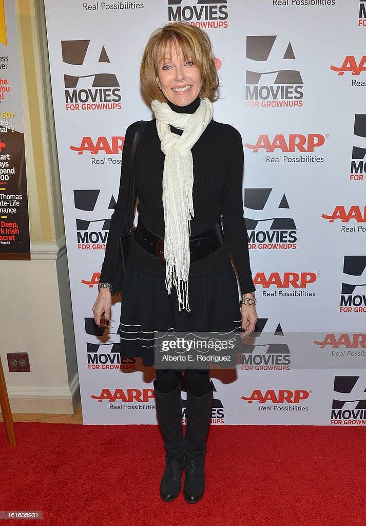 Actress Susan Blakely arrives to AARP The Magazine's 12th Annual Movies for Grownups Awards Luncheon at Peninsula Hotel on February 12, 2013 in Beverly Hills, California.