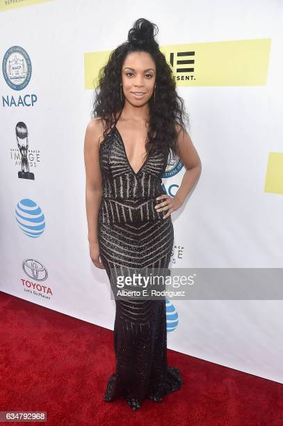 Actress Susan Kelechi Watson attends the 48th NAACP Image Awards at Pasadena Civic Auditorium on February 11 2017 in Pasadena California
