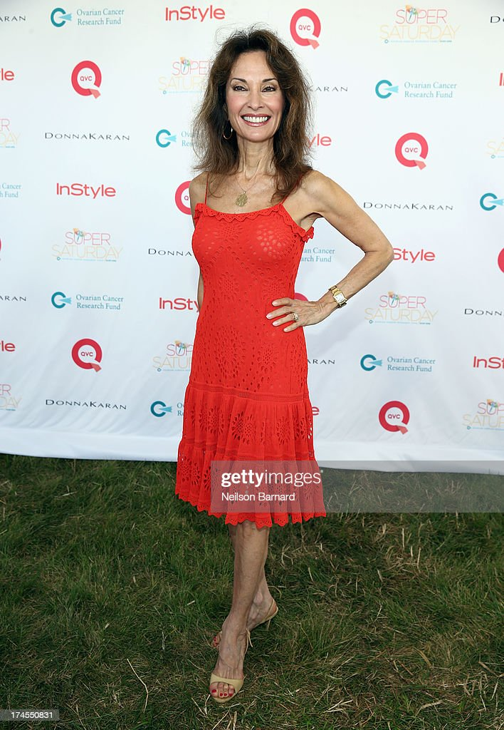 Actress <a gi-track='captionPersonalityLinkClicked' href=/galleries/search?phrase=Susan+Lucci&family=editorial&specificpeople=203010 ng-click='$event.stopPropagation()'>Susan Lucci</a> attends QVC Presents Super Saturday LIVE! at Nova's Ark Project on July 27, 2013 in Water Mill, New York.