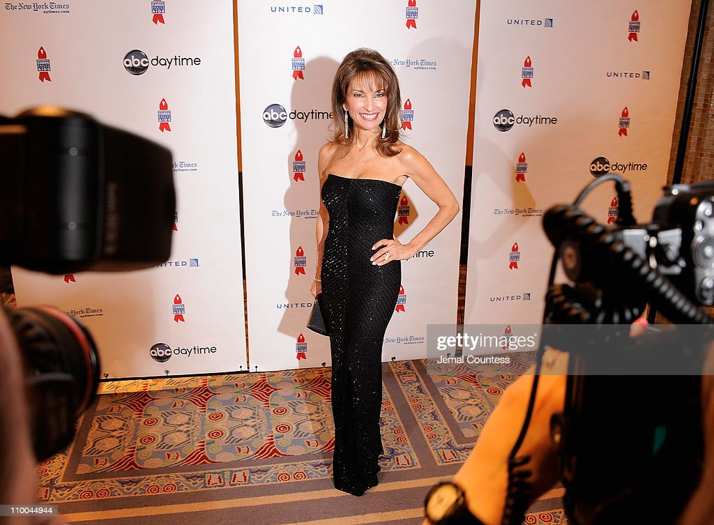 Actress <a gi-track='captionPersonalityLinkClicked' href=/galleries/search?phrase=Susan+Lucci&family=editorial&specificpeople=203010 ng-click='$event.stopPropagation()'>Susan Lucci</a> attends the 7th Annual ABC & SOAPnet Salute Broadway Cares/Equity Fights Aids Benefit closing celebration at The New York Marriott Marquis on March 13, 2011 in New York City.